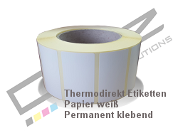 Thermoetiketten 40mm Kern
